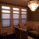 Duo Shade HoneyComb in Dining Room - Columbia Blinds and Shutters