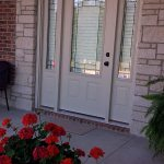 Exterior view of side lights and front glass door - Shutter - Columbia Blinds and Shutters