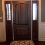 Foyer Shutters in Sidelights - Specialty Window Coverings - Columbia Blinds and Shutters