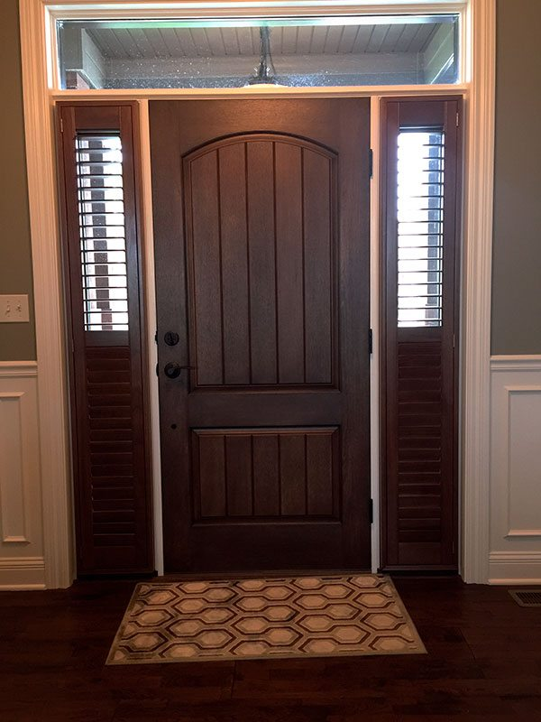 Foyer Window Shutters : Specialty shapes columbia blinds and shutters