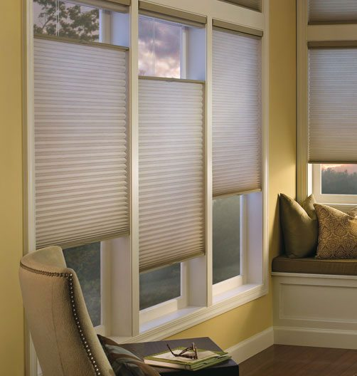 Honeycombs and Pleated Shades Top Down and Bottom Up from Columbia Blinds and Shutters Missouri