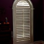 Louvered Arched Shutter in Beautiful Central Columbia Home - Columbia Blinds and Shutters