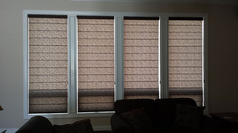 Flat Panel Roman Shades Part - 17: Offering A More Formal And Often Warmer Look Roman Shades Remain A Popular  Choice Both In The Tear Drop (waterfall ) And Flat Panel Configuration.