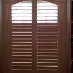 Shallow arched Normandy shutters (1) - Columbia Blinds and Shutters