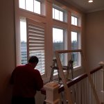 Shutters over stairwell at beautiful Magnolia Falls Home - Shutter - Columbia Blinds and Shutters