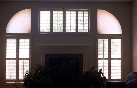 Shutters with Honeycombs - Columbia Blinds and Shutters