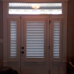 Side lights and Entry door covered with shutters (1) - Columbia Blinds and Shutters