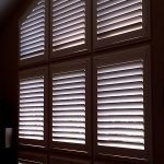 Wall of Shutters Installed - Specialty Window Coverings - Columbia Blinds and Shutters