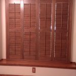 Wood stained Shutters (1) - Columbia Blinds and Shutters