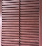 Wood stained Shutters (3) - Columbia Blinds and Shutters