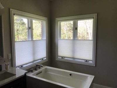 Alta Top Down and Bottom Up Honeycombs bathroom privacy natural lighting Columbia Blinds and Shutters Missouri