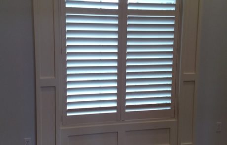 Beautiful arched shutters installed at Old Howthorne in Columbia by Columbia Blinds and Shutters 1