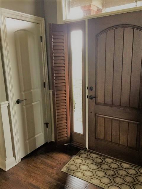 Norman Shutters On Front Door Sidelights Columbia Blinds