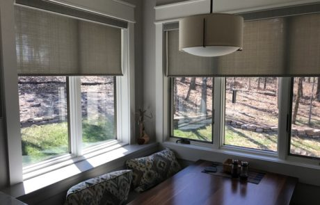 designer roller shades with decorative fabrics in cordless or motorized - House Window Shades