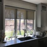 Designer Roller Shades With Decorative Fabrics in Cordless or Motorized installed by Columbia Blinds and Shutters 2