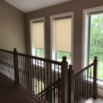 Designer Roller Shades With Decorative Fabrics in Cordless or Motorized installed by Columbia Blinds and Shutters 3