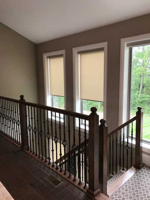 Designer Roller Shades With Decorative Fabrics In Cordless