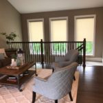 Designer Roller Shades With Decorative Fabrics in Cordless or Motorized installed by Columbia Blinds and Shutters 4