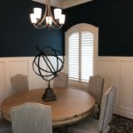 Shutters are a perfect complement for arched windows installed by Columbia Blinds and Shutters