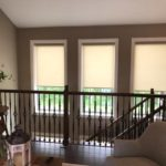 Roller Shades, cordless, stairwells, color, columbia blinds and shutters